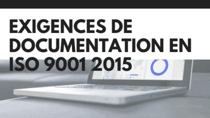Exigences de documentation ISO 9001 2015