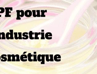 GMP pour l'industrie cosmétique