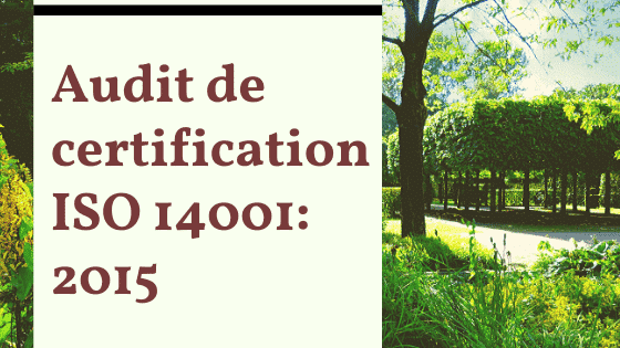 Audit de certification ISO 14001:2015