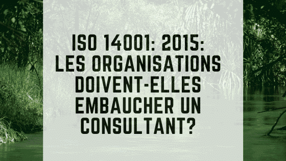 ISO 14001_ 2015_ Les organisations doivent-elles embaucher un consultant