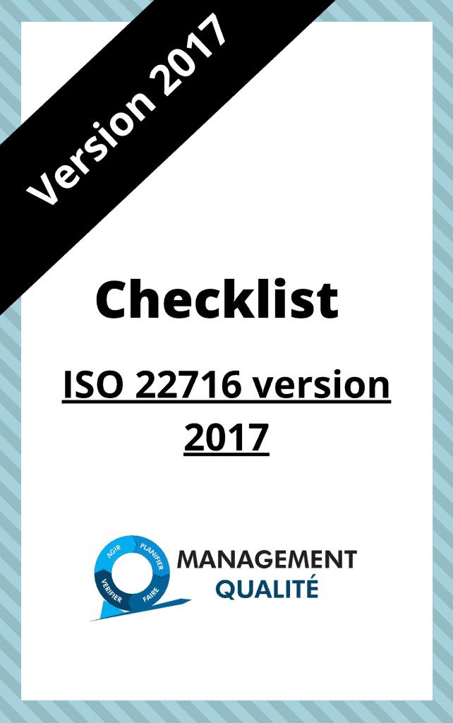 ISO 22716 Checklist